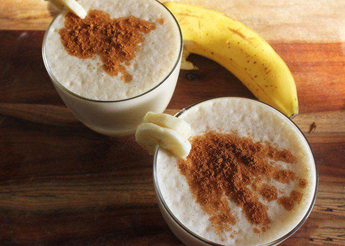 Drinking Banana and Cinnamon Tea for a Good Night's Sleep